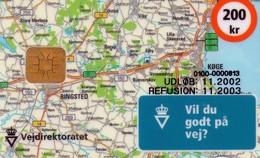 TARJETA TELEFONICA DE DINAMARCA. DD217C, Vejdirektoratet, Map 11.2002 (TIRADA 10000). (021) - Dinamarca