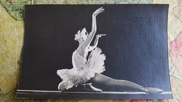 Swan Lake - Ballet  - Dancer - Artist Plisetskaya   - Old Soviet Postcard - Danse