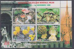 """Guinée N° 1252 / 55 XX """"Italia'98"""", Expo. Philaté., Champignons, Les 4 Vals Se Tenant En Une Feuille, Sans Charnière, TB - Guinée (1958-...)"""