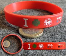 Bracelet Publicitaire En Résine Souple ALFA ROMEO Avec Quadrifolio Verde - Voitures