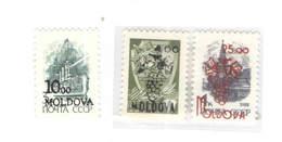 Moldavia PO 1992 Russia Stamps Surch. Scott.+See Scan On Scott.Page - Moldavia