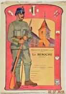 Affiche Originale: Mobilisation De Guerre 1914-1918 - La Béroche - Neuchâtel - Vierge (40 X 29 Cm) Suisse - Militaria - Posters