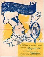 Feuillet Publicitaire Végétaline + écoutez Végétalin Sur Radio Lyon Et Radio Toulouse. - Publicités