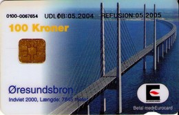 TARJETA TELEFONICA DE DINAMARCA. DD227Fb, Oeresundsbroen 05.2004 (TIRADA 20000). (127) - Dinamarca