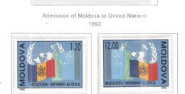 Moldavia PO 1992 Ammissione Onu Scott.61+62+See Scan On Scott.Page - Moldavia