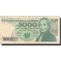Billet, Pologne, 5000 Zlotych, 1982, 1988-12-01, KM:150a, TB - Pologne