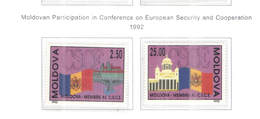 Moldavia PO 1992 Partec.Conf.Sicur. Scott.63+64+See Scan On Scott.Page - Moldavia