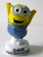 Fève Minions D'Universal Studios - Brillante - Dave - Characters