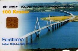 TARJETA TELEFONICA DE DINAMARCA. DD228e, Faroe Broen 09.2003. (126) - Dinamarca