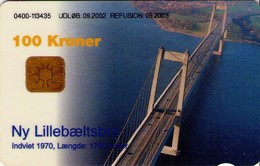 TARJETA TELEFONICA DE DINAMARCA. DD229A, Lillebaeltsbroen 09.2002. TIRADA 29954 (129) - Dinamarca
