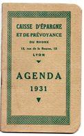 Petit Agenda Calendrier 1931. Caisse D'epargne Et De Prévoyance. - Petit Format : 1921-40