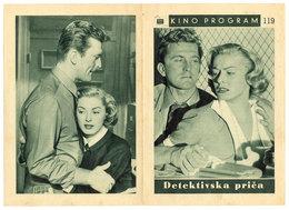 DETECTIVE STORY (1951) Movie Program, Programme De Cinema, William Wyler, Kirk Douglas, Eleanor Parker - Cinema Advertisement