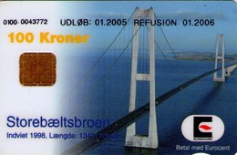 TARJETA TELEFONICA DE DINAMARCA. DD230L, Storebaeltsbroen 01.2005. TIRADA 22267 (124) - Denmark
