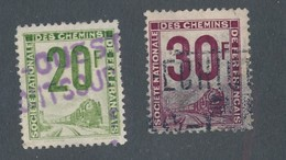 FRANCE - COLIS POSTAUX N°YT 11/12 OBLITERES - COTE YT : 3€ - 1944/47 - Colis Postaux