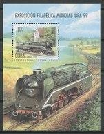 Cuba 1999 / Railways Trains MNH Trenes Züge / Cu9035  41-22 - Treni