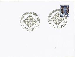 """1966 - Obl Temporaire """"FESTIVAL INTERNATIONAL EUROPE - ECHECS"""" Au Havre Le 10 - 4 - 1966 - Marcophilie (Lettres)"""