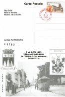 1985 - Carte émise Pour Le 35eme Anniversaire De L'AMICALE PHILATELIQUE DE PIERREFITE - Obl Cachet Rouge De La Poste - Cachets Commémoratifs