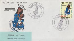 Enveloppe  FDC  1er Jour  POLYNESIE    Créche  De   PIRAE    1973 - FDC