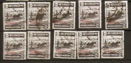 Bangladesh  1976  SG 15  10p  Overprinted Service  Good To Fine Used  As Shown On Scan  X 10 - Bangladesh