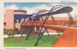 1939 New York World's Fair Exposition, Bridge Of Tomorrow, C1939 Vintage Linen Postcard - Esposizioni