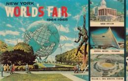 1964 New York World's Fair, Globe, Shea Stadium Sudan Pavilion Futurama By General Motors, C1964 Vintage Postcard - Esposizioni