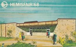 1968 San Antonio Texas HemisFair World's Fair, Artist Image Mormon Church Building, C1968 Vintage Postcard - Exhibitions