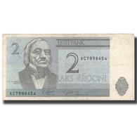 Billet, Estonia, 2 Krooni, 1992, 1992, KM:70a, TTB - Estonie
