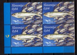 2016 Slovenia - Euromed Issue Fishes Of MIddeteranian -block Of 4 - MNH** MiNr. 1213 - Slovénie