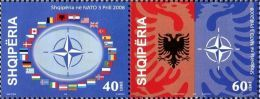 Albania Stamps 2008. Albania In NATO. Full Set MNH - Albanie