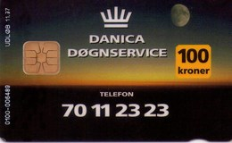 TARJETA TELEFONICA DE DINAMARCA. DD112, Danica Insurance 11.97. TIRADA 10000 (043) - Dinamarca