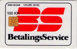 TARJETA TELEFONICA DE DINAMARCA. DD188A, Betalingsservice, 08.99. (115) - Dinamarca