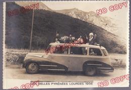 Au Plus Rapide Autocar Lourdes 1956 Pèlerinage Breton Bretagne Quimperlé Finistère Beau Format - Automobiles