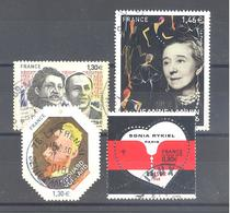 France Oblitérés : Lucie Et Raymond Aubrac - Sonia Rykiel à 0,80 - Edouard Vuillard & N°5170 (cachet Rond) - France