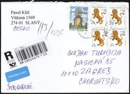 Czech Republic Slany 2014 / R Letter - Cover / Lion Horoscope, Wind Mill - Tchéquie