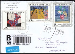 Czech Republic Trebechovice Pod Orebem 2014 / R Letter - Cover / Kupka, Gauguin, Styrsky, Paintings, Art - Tchéquie