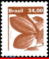 Ref. BR-1670 BRAZIL 1980 FRUITS, ECONOMIC RESOURCES,, CACAO, MNH 1V Sc# 1670 - Brazil