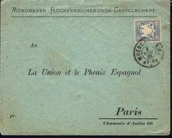 ALLEMAGNE - 1906 - Affranchissement à 20 Pf. Sur Enveloppe Commerciale De Muenchen Vers Paris - B/TB - - Bavière