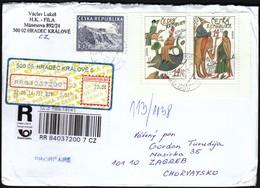 Czech Republic Hradec Kralove 2014 / R Letter - Cover / Europa CEPT Marco Polo, Fish, Elephant, Castle Vysehrad - Tchéquie