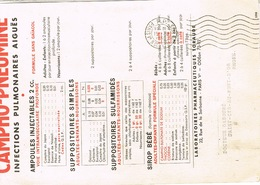 O.MEC FLIER PP PARIS V SUR PUB PHARMACEUTIQUE CAMPHO-PNEUMINE - Storia Postale