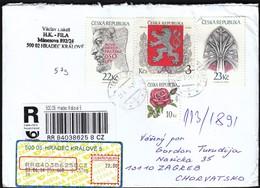 Czech Republic Hradec Kralove 2014 / R Letter - Cover / Rose, Coat Of Arms, Nove Meso, Chram Sv. Vita - Tchéquie