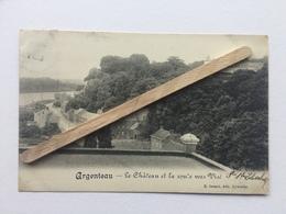 ARGENTEAU»LE CHÂTEAU ET LA ROUTE VERS VISÉ»Panorama (1911)Édit E. DESAIX,Aywaille. - Visé
