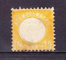 Stempelmarke, Herzogthum Baden, Praegedruck, 10 Pfg (54733) - Gebührenstempel, Impoststempel