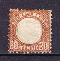 Stempelmarke, Herzogthum Baden, Praegedruck, 20 Pfg (54734) - Gebührenstempel, Impoststempel