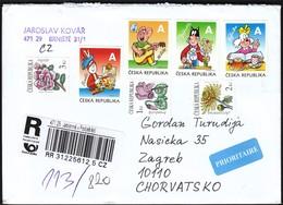 Czech Republic Jablonne V Podjestedi 2014 / R Letter - Cover / Flowers, Comic - Tchéquie