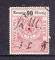 Stempelmarke, Grossherzogthum Hessen, 90 Pfg (54737) - Gebührenstempel, Impoststempel