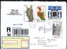 Czech Republic Hradec Kralove 2014 / R Letter - Cover / Monument, European Flower Championship, Jews, Europa CEPT - Tchéquie