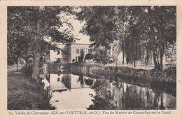 CP , 78 , GIF-sur-YVETTE , Vue Du Manoir De Courcelles Sur Le Canal - France