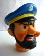 TETE DE MARIONNETTE TINTIN - HADDOCK CESAR 1974 - HERGE - Figurines