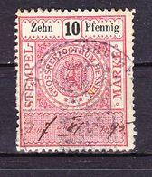 Stempelmarke, Grossherzogthum Hessen, 10 Pfg (54739) - Gebührenstempel, Impoststempel