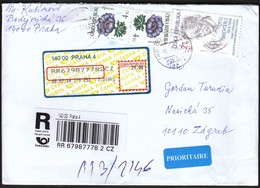 Czech Republic Prague 2014 / R Letter - Cover / Flowers, Otto Wichterle - Briefe U. Dokumente